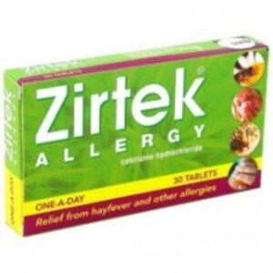 Zirtek Cetirizine Allergy Relief 10mg Tablets