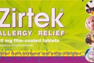 Zirtek Allergy 10mg, 7 Tablets