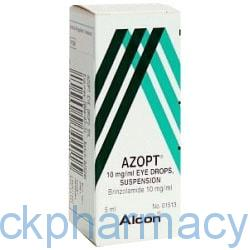 azopt eye drops alternative brinzolamide