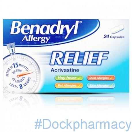 benadryl allergy relief 24 caps