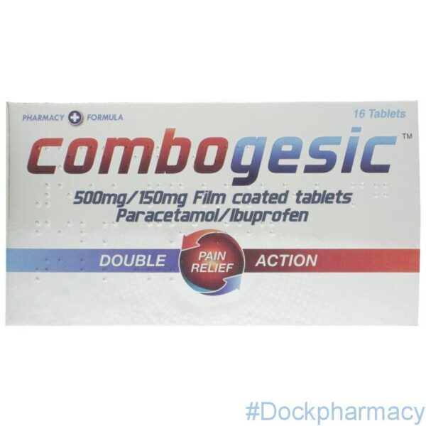 Combogesic dual action tablets 16 tablets