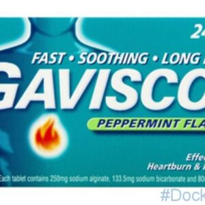GAVISCON PEPPERMINT 250MG, 24