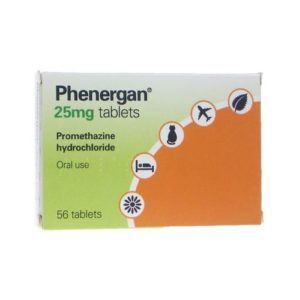 Phenergan 25mg tablets 56 tablets