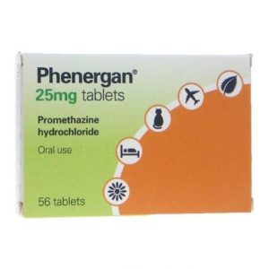 Phenergan 25mg tablets 56 tablets