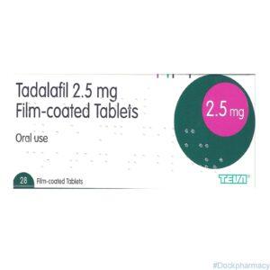 Tadalafil 2.5mg daily tablets