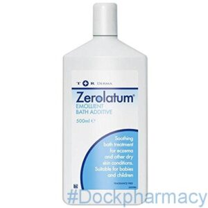 Zerolatum emollient bath additive