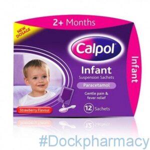 Calpol Infant Suspension, 5ml x 12 Sachets