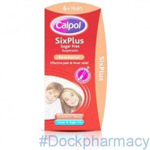 Calpol Six Plus Suspension Sugar Free, 80ml