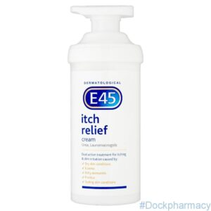 E45 ITCH RELIEF CREAM for Eczema Itchy Skin And Dry Skin, 500G