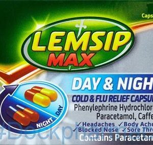 Lemsip Max Day & Night Cold & Flu Relief, 24 Capsules
