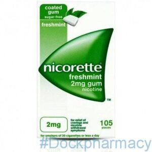 Nicorette Freshmint Gum 2mg, 105
