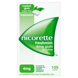 Nicorette Freshmint Gum 4mg , 105