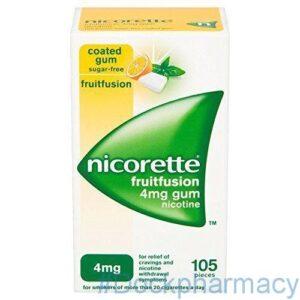 Nicorette Fruitfusion Gum 4mg, 105S