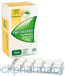 NICORETTE FRUITFUSION 6MG GUM 105S, 105S