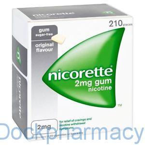 NICORETTE GUM ORIGINAL 2MG, 210