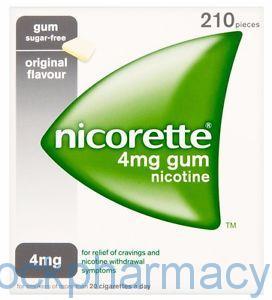 NICORETTE GUM ORIGINAL 4MG, 210
