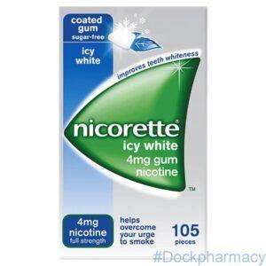 Nicorette Icy White Gum 4mg, 105
