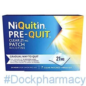 NIQUITIN 21MG PRE QUIT CLEAR PATCH, 7