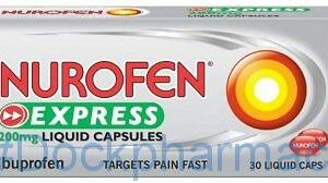Nurofen Express 200mg, 30 Liquid Capsules