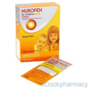 Nurofen For Children Orange , 5ml x 16 Sachets