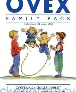 Ovex 100mg, Family Pack, 4 Doses