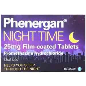 Phenergan Night Time 25mg Tablets, 14 Tablets