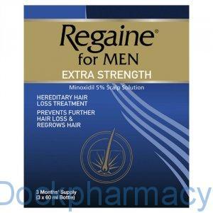 Regaine For Men Extra Strength, 3 x 60ml