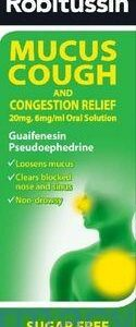 Robitussin Plus Mucus With Congestion, 100ml