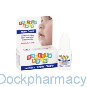 Snufflebabe Saline Nasal Drops, 10ml