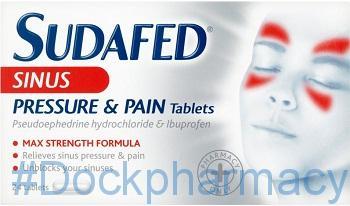 Sudafed ibuprofen and pseudoephedrine