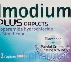 Imodium Plus 2mg, 12 Caplets