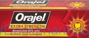 Orajel Extra Strength Dental Gel, 5.3g