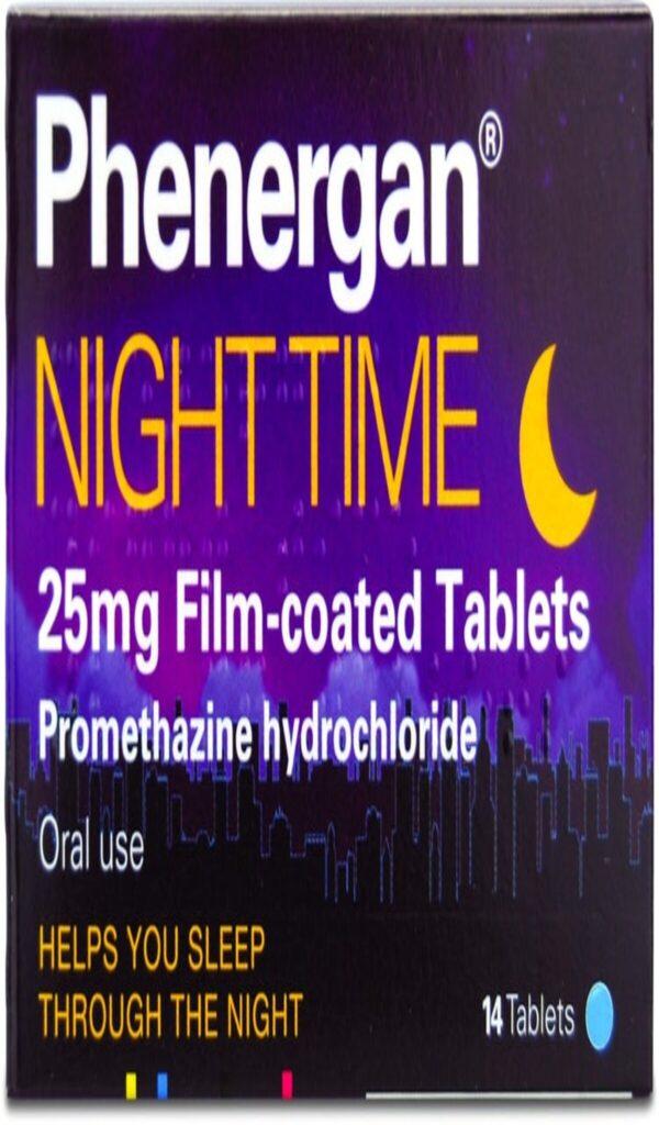phenergan promethazine 25mg night time tablets
