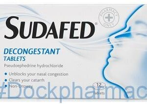 Sudafed Decongestion Tablets Non Drowsy, 12 Tablets