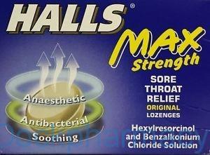 Halls Max Strength Original Lozenges,