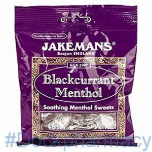 Jakemans Blackcurrant Menthol, 100g