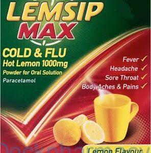 Lemsip Max Cold & Flu Lemon, 5 Sachets
