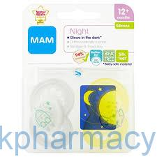 Mam Night Soother 12+ Month, 2 Soothers