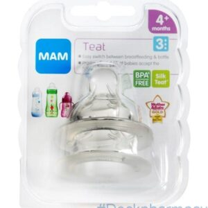 Mam Teat 3 Fast Flow, Twin Pack