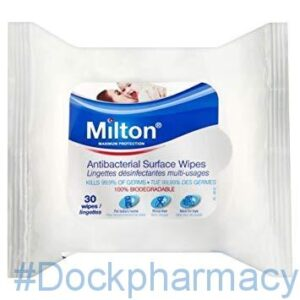 Milton Anti-Bacterial Surface Wipes, 30 Wipes
