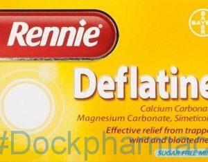 Rennie Deflatine, 36 Chewable Tablets