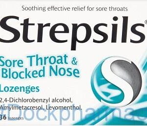 Strepsils Sore Throat Blocked Nose, 36 Lozenges