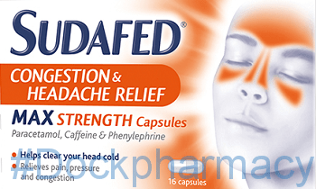 Sudafed Congestion Headache Max Strength, 16 Tablets