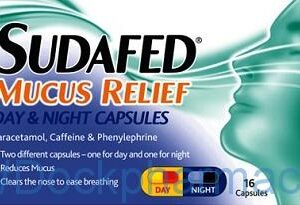 Sudafed Mucus Relief Day And Night, 16 Capsules