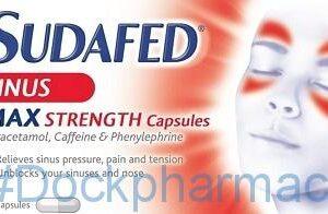 Sudafed Sinus Max Strength, 16 Capsules