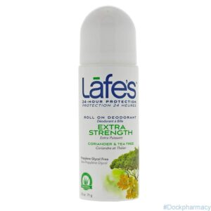natural lafe's roll on deodorant extra strenght