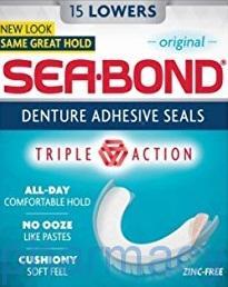 Seabond Denture Fixative, 15 Lowers