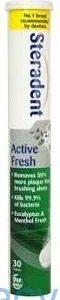 Steradent Active Fresh, 30 Dissolvable Tablets