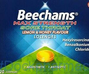 Beechams Max Strength, 20 Lozengers Honey & Lemon