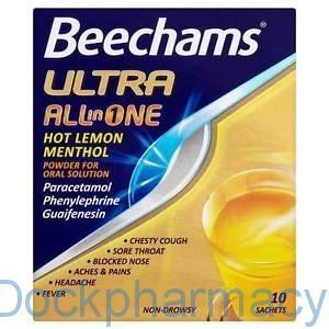 Beechams Ultra All In One Hot Lemon Menthol , 10S